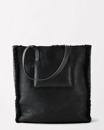 CLAIRE SHEEPSKIN TOTE, , large