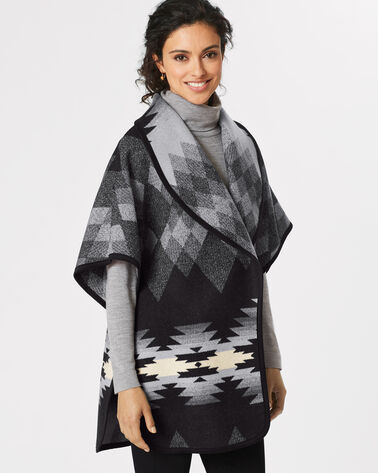 PAPAGO PARK REVERSIBLE CAPE, BLACK/GREY, large