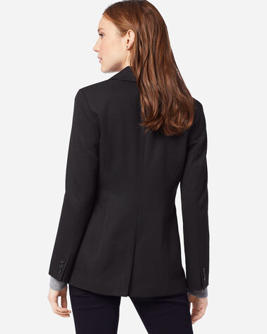 ADDITIONAL VIEW OF WOMEN'S SEASONLESS WOOL BLAZER IN BLACK