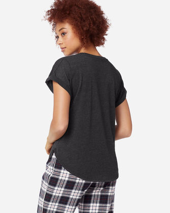 ADDITIONAL VIEW OF WOMEN'S SHORT-SLEEVE JERSEY TEE IN CHARCOAL HEATHER
