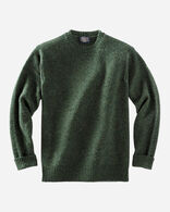 MEN'S SHETLAND WASHABLE WOOL CREWNECK IN JUNIPER GREEN