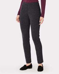 REED KNIT ANKLE PANTS, CHARCOAL MIX, large