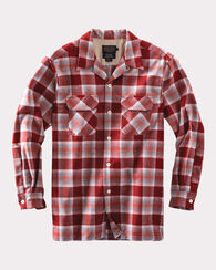 ULTRAFINE MERINO BOARD SHIRT, RED PLAID, large