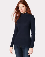 RIB MOCK NECK PULLOVER, MIDNIGHT NAVY, large