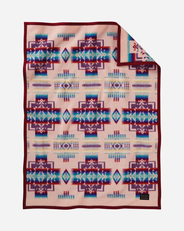 CHIEF JOSEPH CRIB BLANKET IN PINK