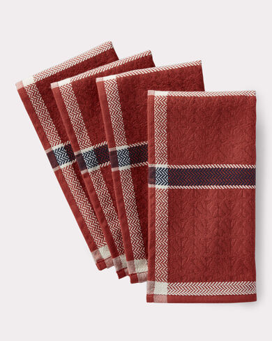 PLAID NAPKINS, SET OF 4