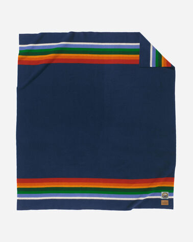 CRATER LAKE NATIONAL PARK BLANKET IN NAVY