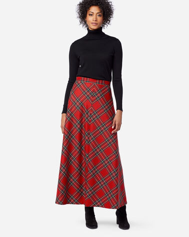 FIRESIDE SKIRT, RED STEWART TARTAN, large