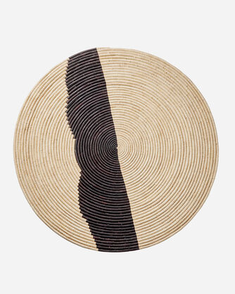 JUMBO STRIPED RAFFIA DISK