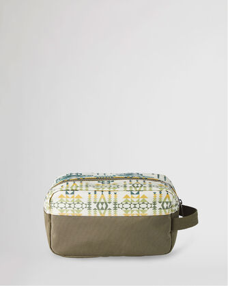 ALTERNATE VIEW OF PILOT ROCK CANOPY CANVAS CARRYALL POUCH IN OLIVE