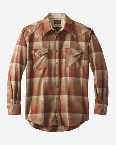 MEN'S FITTED SNAP-FRONT CANYON SHIRT IN PUMPKIN/BROWN OMBRE