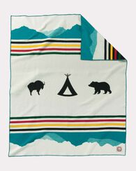 GLACIER PARK 100TH ANNIVERSARY BLANKET, IVORY, large