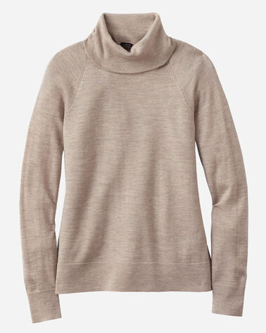 MERINO RIBNECK TURTLENECK, TAUPE GREY HEATHER, large