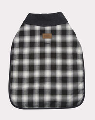 LARGE PLAID DOG COAT, CHARCOAL OMBRE, large