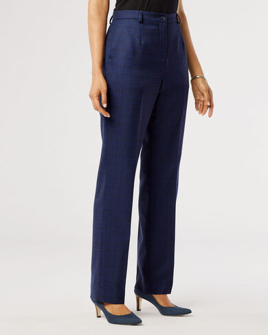 WOOL-LIN TRUE FIT TROUSERS, NAVY/CATALINA BLUE, large