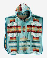 CHIEF JOSEPH HOODED KIDS' TOWEL, AQUA, large