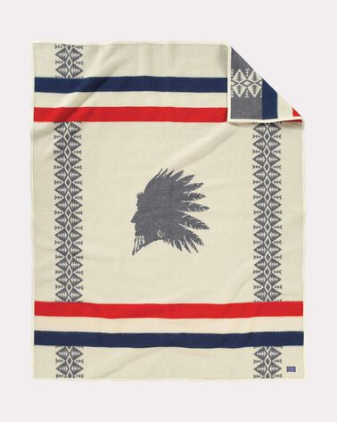 HEROIC CHIEF BLANKET, IVORY, large