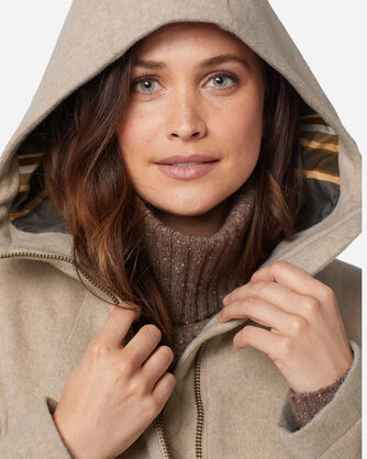 ADDITIONAL VIEW OF WOMEN'S FINLAY WATERPROOF HOODED COAT IN OATMEAL