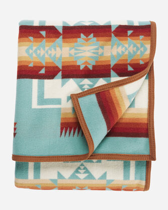 ADDITIONAL VIEW OF CHIEF JOSEPH BLANKET IN AQUA