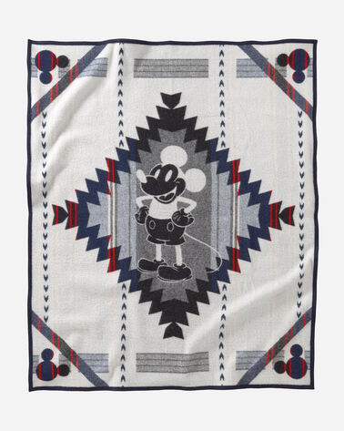 ADDITIONAL VIEW OF DISNEY'S MICKEY'S DEBUT THROW IN BLUE