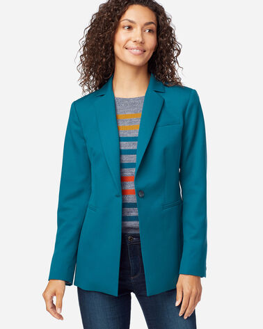 WOMEN'S SEASONLESS WOOL BLAZER IN MOROCCAN BLUE