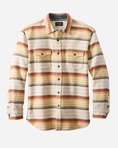 MEN'S SERAPE BEACH SHIRT IN TAN/COPPER