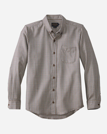 FITTED EVERGREEN WORSTED WOOL SHIRT