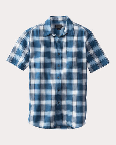 TENNYSON PLAID HERRINGBONE SHIRT, INDIGO MULTI PLAID, large