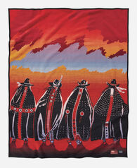 RODEO SISTERS BLANKET, RED, large