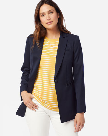 WOMEN'S SEASONLESS WOOL BLAZER IN MIDNIGHT NAVY