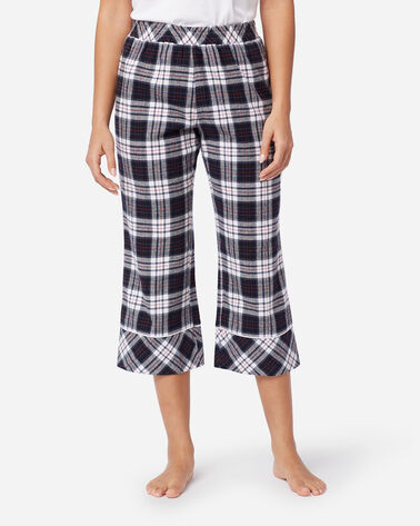 WOMEN'S CROPPED FLANNEL PAJAMA PANTS