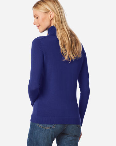 ADDITIONAL VIEW OF WOMEN'S TIMELESS MERINO TURTLENECK IN ULTRAMARINE