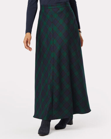 FIRESIDE SKIRT, BLACK WATCH TARTAN, large