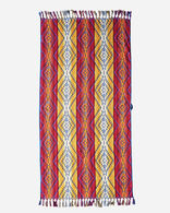 PAGOSA SPRINGS SPA TOWEL WITH FRINGE IN FUCHSIA