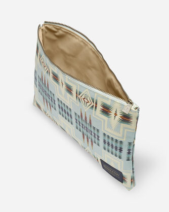 ALTERNATE VIEW OF HARDING CANOPY CANVAS BIG ZIP POUCH IN AQUA