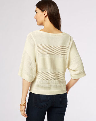 MIXED MEDIA PULLOVER, , large