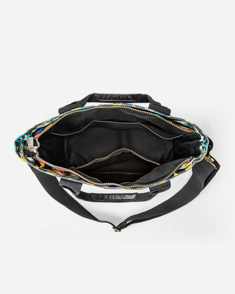 ADDITIONAL VIEW OF TUCSON CANOPY CANVAS SUPER TOTE IN BLACK/MULTI