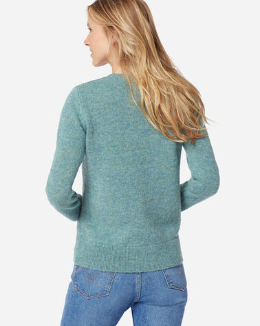 ADDITIONAL VIEW OF WOMEN'S SHETLAND WASHABLE WOOL CREWNECK IN SKY TEAL