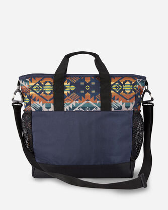 ALTERNATE VIEW OF JOURNEY WEST CARRYALL TOTE IN SLATE