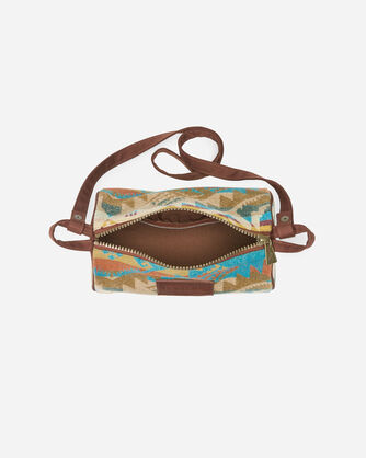 ALTERNATE VIEW OF TRAVEL KIT WITH STRAP IN JOURNEY WEST TURQUOISE