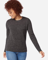 WOMEN'S SHETLAND WASHABLE WOOL CREWNECK IN GREY