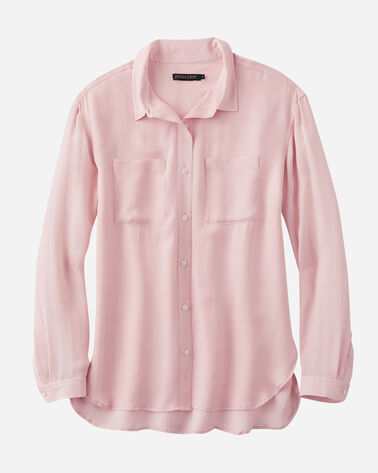 WOMEN'S LONG-SLEEVE SILK BUTTON-UP SHIRT