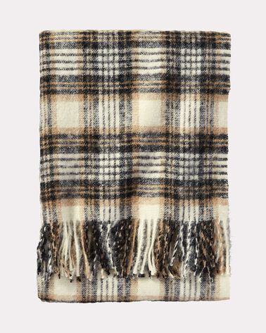 BOUCLE WOOL THROW, OVERTON PLAID, large