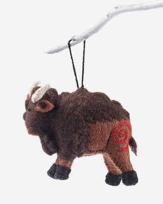 FOREST FRIENDS FELT ORNAMENTS IN BROWN BISON