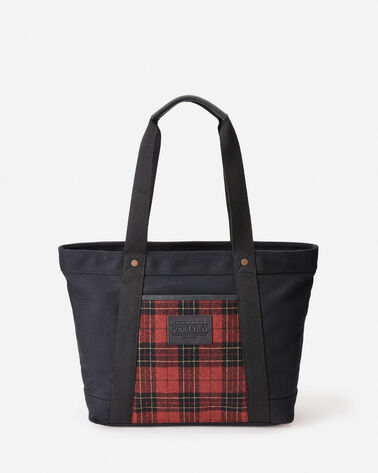 TARTAN TOTE, BRODIE/BLACK WATCH, large