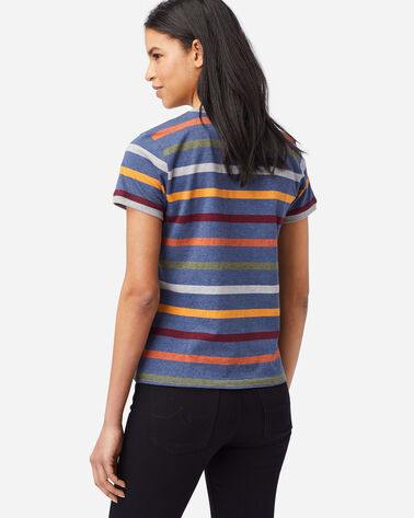 ALTERNATE VIEW OF WOMEN'S DESCHUTES RINGER TEE IN NAVY STRIPE