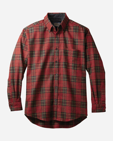 MEN'S FITTED FIRESIDE SHIRT, BRODIE RED TARTAN, large
