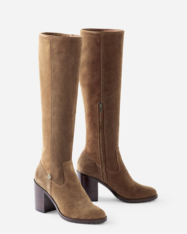MADISON TALL SUEDE BOOTS, CHESTNUT, large