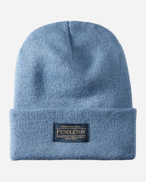 PENDLETON BEANIE IN MINERAL BLUE