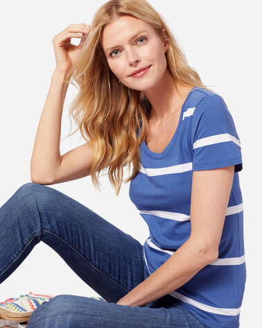 WOMEN'S SHORT-SLEEVE PIMA STRIPE TEE